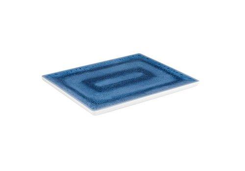 HorecaTraders Melamin Serviertablett GN 1/2 | Blaue Ozeanlinie
