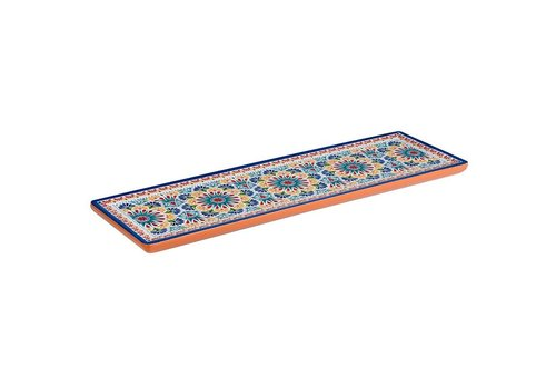 HorecaTraders Melamine Serving Platter | Arabesque Line | GN 2/4 2 formats