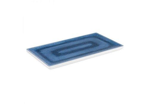 HorecaTraders Melamin Serviertablett GN 1/3 Blaue Ozeanlinie