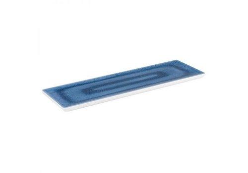 HorecaTraders Melamin Serviertablett GN 2/4 Blaue Meereslinie