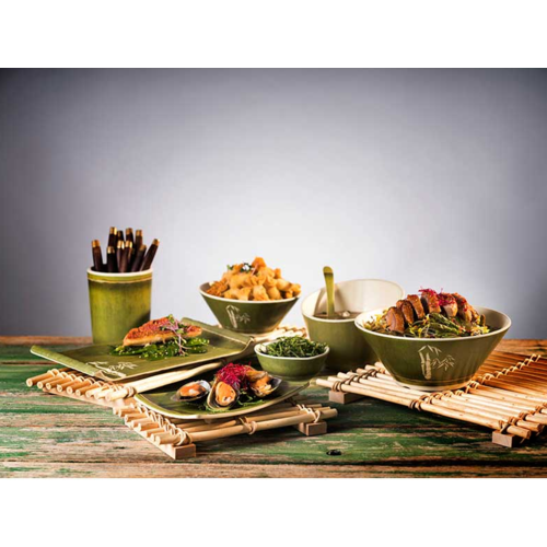 Melamine Servies Green Bamboo Line