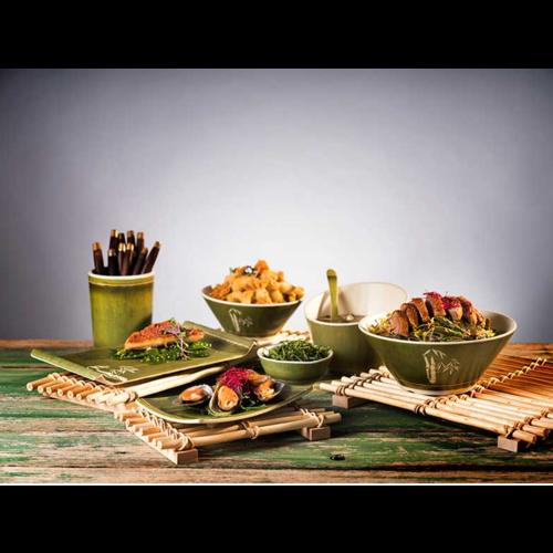 Melamine Tableware Green Bamboo Line