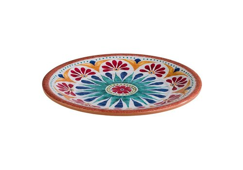 HorecaTraders Melamine Serving Plate | Arabesque Line | 2 formats