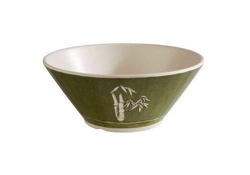 HorecaTraders Melamine Serving Dish | Green Bamboo Line | 3 Formats