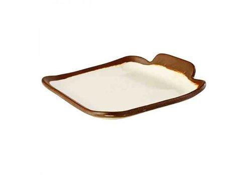 HorecaTraders Melamine Serving tray 14x13x (h) 2.5 cm | Crocker Line
