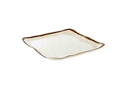 HorecaTraders Weiße Melaminplatte | Stone Art Line 33,0 x 32,5 cm