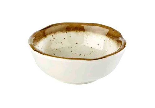 HorecaTraders White Melamine Bowl Stone Art | 8.0 Ø