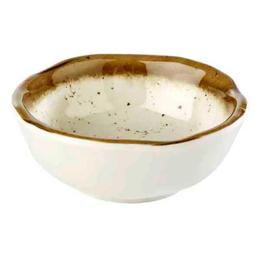 White Melamine Bowl Stone Art | 8.0 Ø