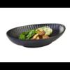 HorecaTraders Black Melamine Serving dish 26.5 x 19.5 cm | Aiko Line