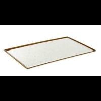 White Melamine Serving Platter | Stone Art Line 4 Formats