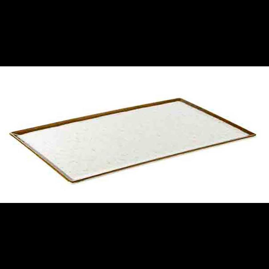 Servierplatte aus weißem Melamin | Stone Art Line 4 Formate