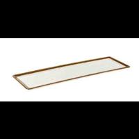 Witte Melamine Serveerplateau | Stone Art Line  | 4 Formaten