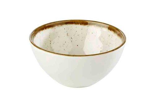 HorecaTraders White Melamine Bowl Stone Art | 12 Ø