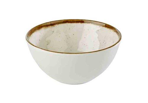 HorecaTraders White Melamine Bowl | Stone Art Line 15.0 Ø