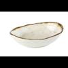 HorecaTraders Weiße Melaminschale Oval | Steinkunst | 1 Format