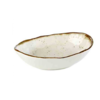HorecaTraders White Melamine Bowl Oval | Stone Art | 1 format