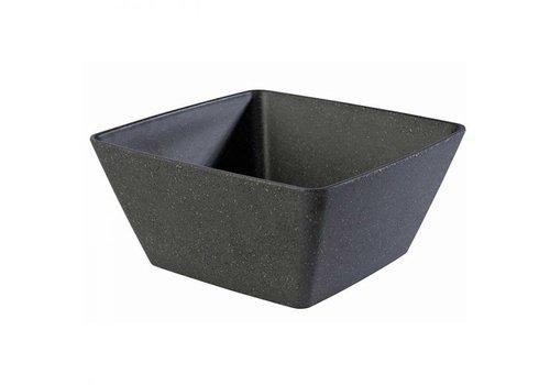 HorecaTraders Melamine Dish | 25x25x (h) 12 cm | 3.5 liters