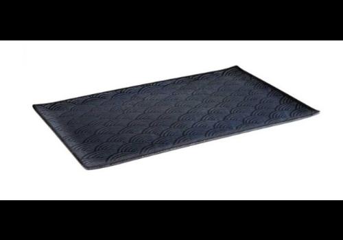 HorecaTraders Melamine Serving tray 4 Formats Dark Wave Line