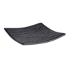 HorecaTraders Melamin Serviertablett 14 cm x 14 cm | Dunkle Wellenlinie