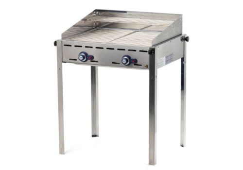 Hendi Green Fire with 2 Burners with windshield | 2 Stainless Steel Grates