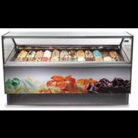 Scoop ice cream display case MILLENNIUM RV 24 ST