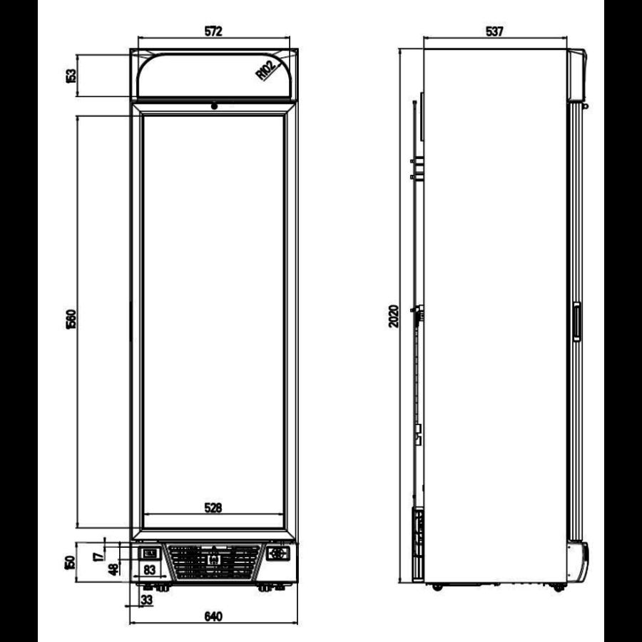 Glazen Deur Vrieskast | 1 deur