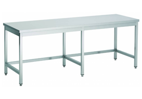 Combisteel Stainless steel worktable Open Frame 800 Line 4 Poots | 7 Formats