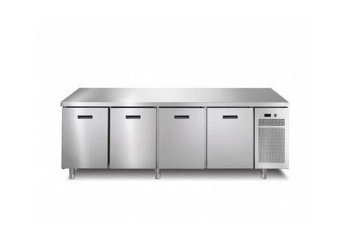 Afinox Freezer workbench 4 Doors | 218.2x70x (h) 90 cm | With or without worktop