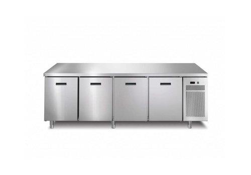 Afinox Gefrierschrank Werkbank 4 Türen | 218,2 x 70 x (h) 90 cm | Mit oder ohne Arbeitsplatte
