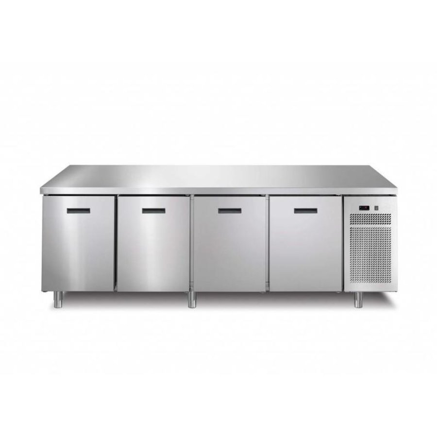 Freezer workbench 4 Doors | 218.2x70x (h) 90 cm | With or without worktop