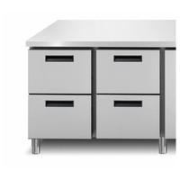 Gefrierschrank Werkbank 4 Türen | 218,2 x 70 x (h) 90 cm | Mit oder ohne Arbeitsplatte