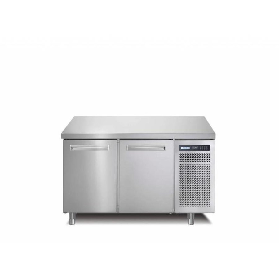 Stainless steel freezer workbench 2 Doors | SPRING 702 I / A BT | 130x70x (H) 90 cm | With / without Worktop
