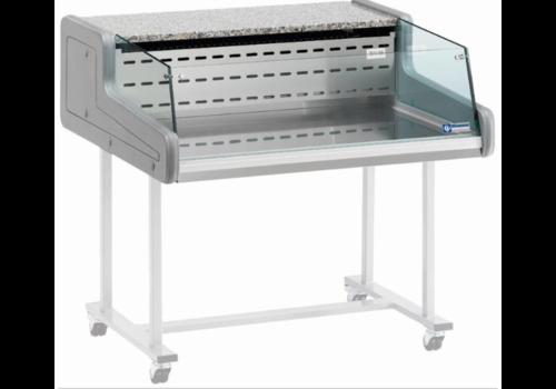 Diamond Vitrine Toonbank | Gekoeld +4°C / +6°C | Self-Service 1500x930x(H)346mm