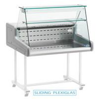 Gekoelde vitrinetoonbank | recht frontglas 1000x930x(H)660 mm
