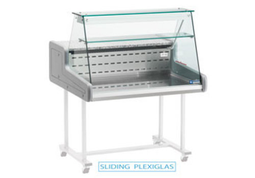 Diamond Verkaufskühltheke | gerade Frontscheibe 1000x930x (H) 660 mm