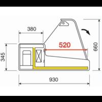 Verkaufskühltheke | gerade Frontscheibe 1000x930x (H) 660 mm