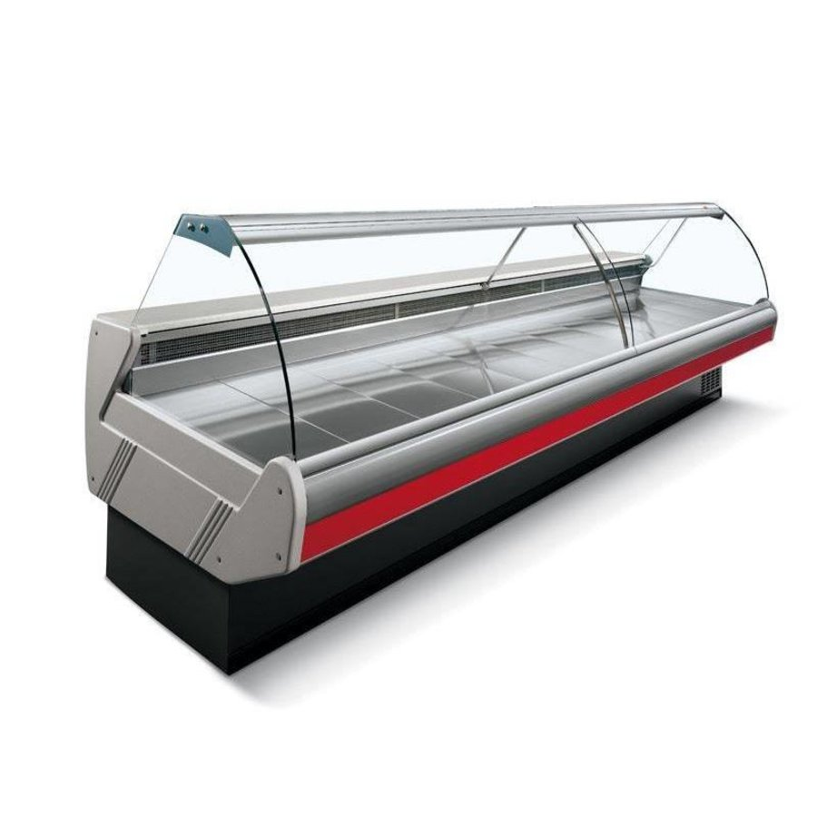 Koeltoonbank met Verlichting | Marmeren Werkblad | DALLAS/3 VC 3750 | Arneg | 383x114,5x(H)125,6cm