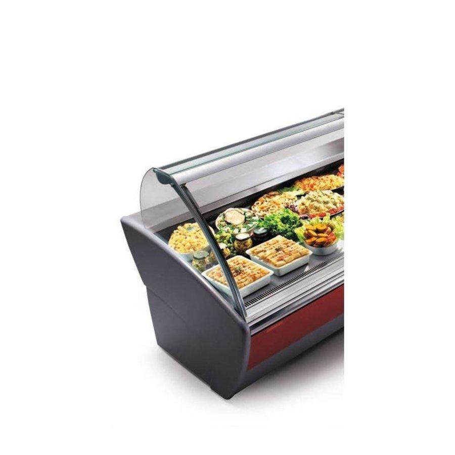 Beleuchteter Kühltisch | Oscartielle MAJOR 1330 VCA | 133 x 118,5 x (H) 133 cm