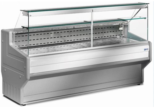 Diamond Refrigerated display counter | + 4 ° + 6 ° | Cooled straight glass 2000x800x (H) 1220mm