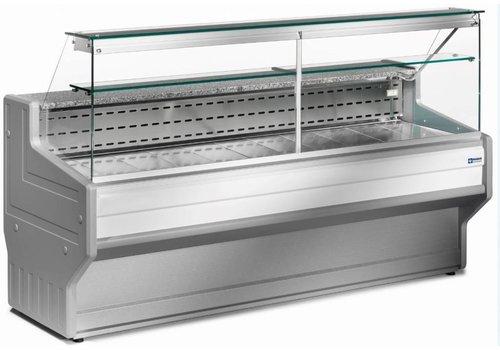Diamond Verkaufskühltheke | + 4 ° + 6 ° | Gekühltes gerades Glas 2000 x 800 x (H) 1220 mm