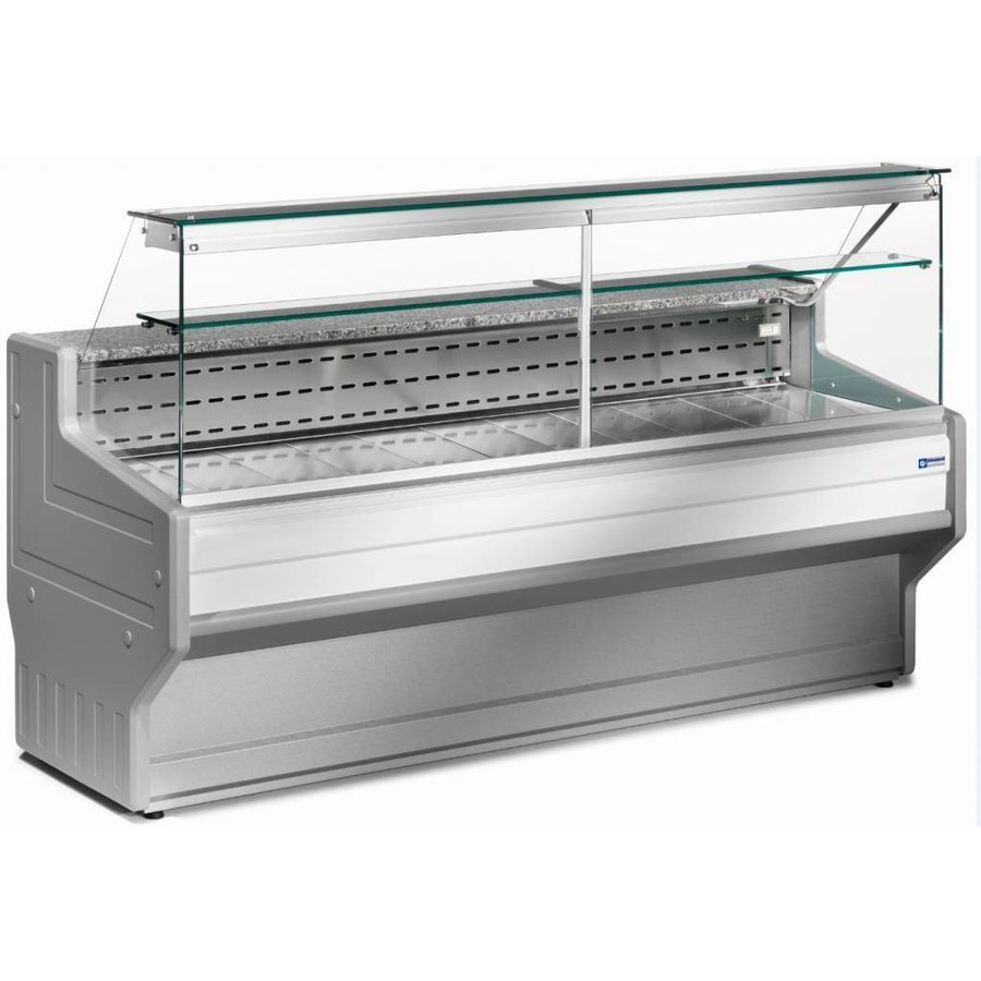 Refrigerated display counter | + 4 ° + 6 ° | Cooled straight glass 2000x800x (H) 1220mm