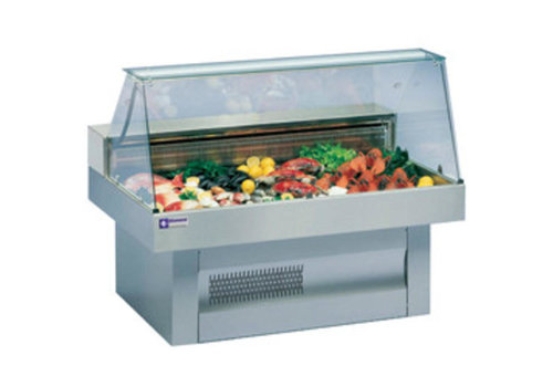 Diamond Showcase Fish Counter | Curved Windows Cooled 0 / +2 ºC | 1500x1000x (h) 1195mm