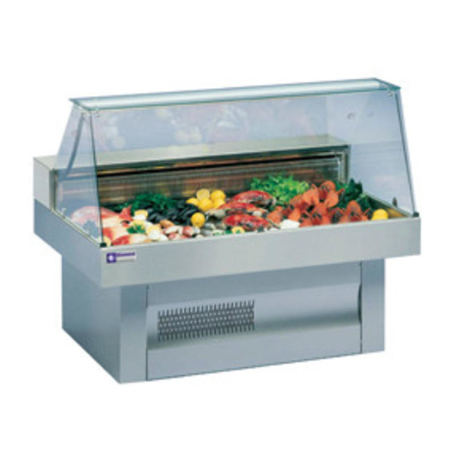 Showcase Fish Counter | Curved Windows Cooled 0 / +2 ºC | 1500x1000x (h) 1195mm