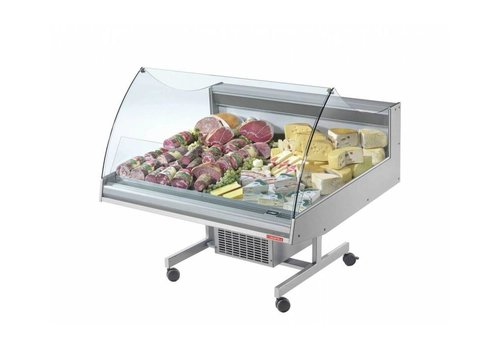 Oscartielle Refrigerated counter | BANCARELLA SELF 125 | Self Service | Hoge Glasopbouw | 128.8x122x (H) 103 cm