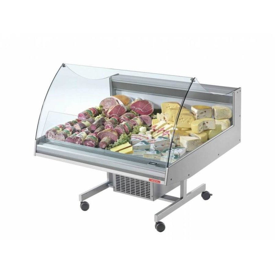 Refrigerated counter | BANCARELLA SELF 125 | Self Service | Hoge Glasopbouw | 128.8x122x (H) 103 cm
