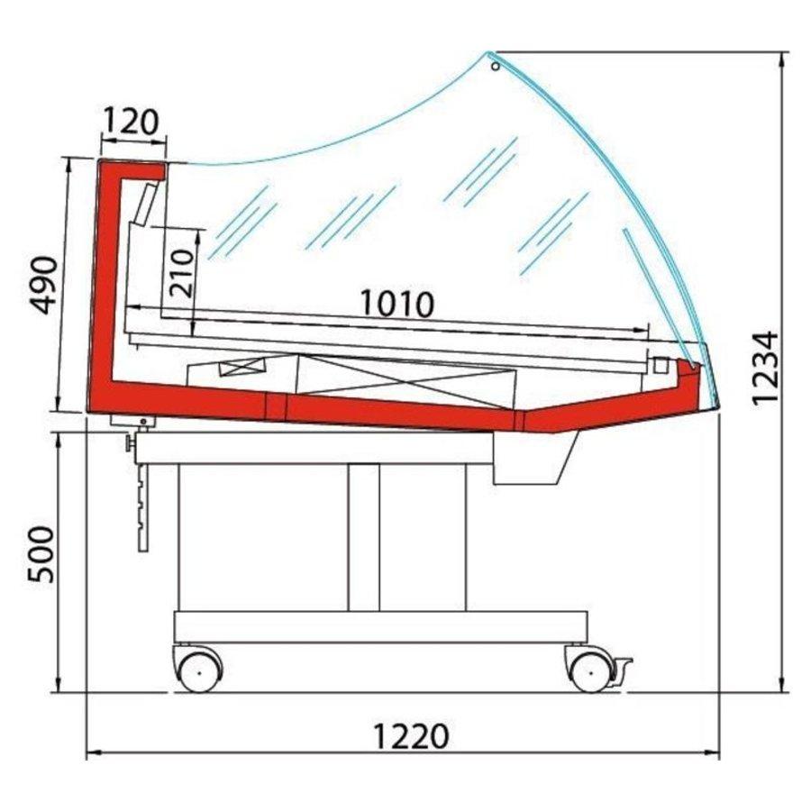 Kühltheke | BANCARELLA SELF 125 | Selbstbedienung | Hoge Glasopbouw | 128,8 × 122 × (H) 103 cm