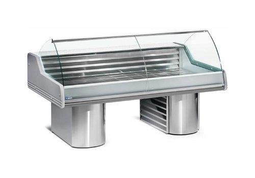 Diamond Vitrine Toonbank Vis | Werkblad Graniet | Gekoeld 0 / +2 ºC | 2500x1195x(h)1175mm
