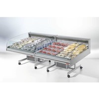 Refrigerated counter | BANCARELLA SELF 125 | Self Service | 4 castors, 2 of which are braked 128.8x122x (H) 103 cm