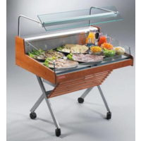 Refrigerated Counter With Glass Structure | Self Service | Ready to plug | 126.2x84x (H) 90.5 cm