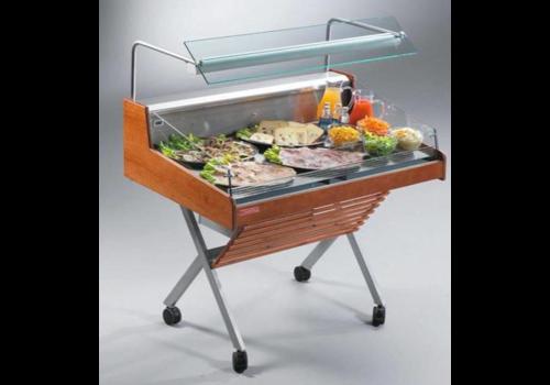 Oscartielle Kühltheke Mit Glasstruktur | Selbstbedienung | Steckerfertig | 126,2 × 84 × (H) 90,5 cm